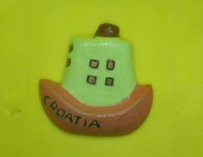 Magnet brodić / Little ship fridge magnet